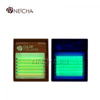 """Ресницы """"NEICHA"""" MINI MIX(8-13 мм) C 0.1 Fluorescent (Green)"""