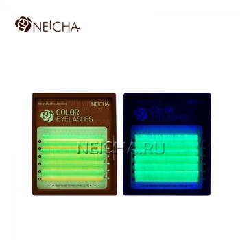 """Ресницы """"NEICHA"""" MINI MIX(8-13 мм) C 0.07 Fluorescent (Yellow)"""