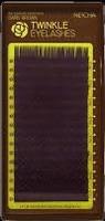 """Ресницы """"NEICHA"""" MIX ( 8-14 мм) TWINKLE DARK BROWN - темно-коричневые (16 линий) B 0.07"""