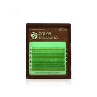 """Ресницы """"NEICHA"""" MINI MIX(8-13 мм) yellow green  C 0.07"""