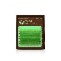 """Ресницы """"NEICHA"""" MINI MIX(8-13 мм) yellow green  C 0.15"""