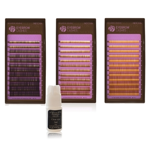 Волоски для наращивания бровей (Natural  Brown) mix 4-8 мм 0.1   Товар добавлен