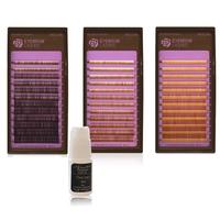 Волоски для наращивания бровей (Dark Brown) mix 4-8 мм 0.1
