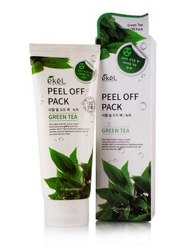 EKEL Маска-пленка для лица с зеленым чаем Peel off pack Green Tea, 180 мл
