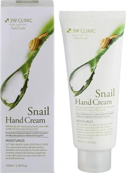 3W CLINIC Увлажняющий крем для рук с муцином улитки Moisturizing Snail Hand Cream 100 мл