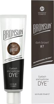 Краска для ресниц и бровей BRONSUN, цвет темно-коричневый тон 7
