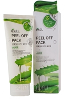 EKEL Маска-пленка для лица с алоэ Peel off pack Aloe, 180 мл