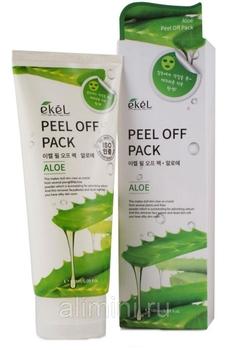 EKEL Маска-пленка для лица с алоэ Peel off pack Aloe, 180 мл