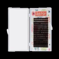 """Коричневые ресницы Lash&Go """"Эспрессо"""" D 0.1 7-14 мм микс (16 линий)"""