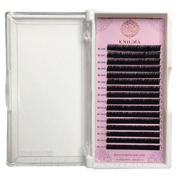 Черные ресницы Enigma микс D+ 0.085 7-13 мм.