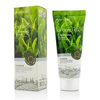3W CLINIC Пенка для умывания натуральная ЗЕЛЕНЫЙ ЧАЙ Green Tea Foam Cleansing, 100 мл