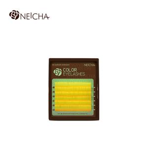 "Ресницы ""NEICHA"" MINI MIX( 8-13 мм) Yellow (желтый) C 0.1"