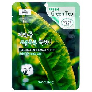 Тканевая маска для лица ЗЕЛЕНЫЙ ЧАЙ Fresh Green tea Mask Sheet