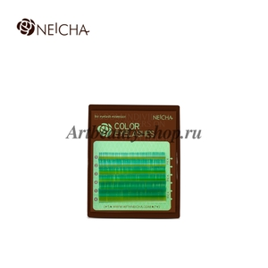 """Ресницы """"NEICHA"""" MINI MIX BLUE GREEN (лазурный) C0.10"""