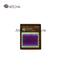 """Ресницы """"NEICHA"""" MINI MIX(8-13 мм) Violet (фиолетовый) C 0.07"""