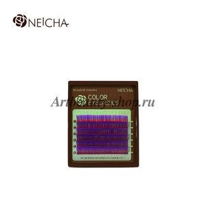 """Ресницы """"NEICHA"""" MINI MIX(8-13 мм) Violet (фиолетовый) B 0.10"""