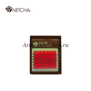 """Ресницы """"NEICHA"""" MINI MIX(8-13 мм) Red (красный) C 0.07"""