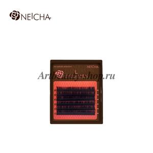 Черные ресницы 6 линий NEICHA L-изгиб Straight MIX 8-13 0.15