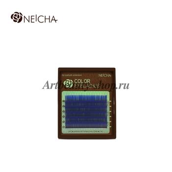 "Ресницы ""NEICHA"" MINI MIX(8-13 мм) OCEAN BLUE (аквамарин) С 0.15"
