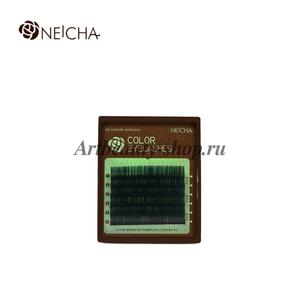 """Ресницы """"NEICHA"""" MINI MIX(8-13 мм) Green (зеленый)  C 0.10"""