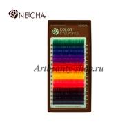"""Ресницы """"NEICHA"""" цветные 8 color (16 линий) B 0.15 12 мм"""