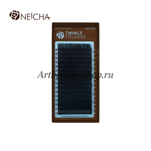 "Ресницы ""NEICHA"" TWINKLE черные (16 линий) B  0.1 Длина 8 мм"