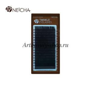 """Ресницы """"NEICHA"""" TWINKLE черные (16 линий) C 0.12 Длина 14 мм"""