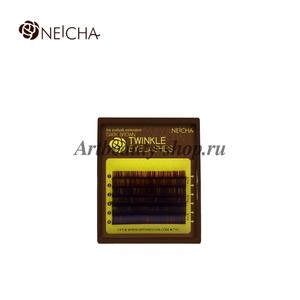 "Ресницы ""NEICHA"" MINI MIX ( 8-13 мм) TWINKLE DARK BROWN (темно-коричневые) B 0.10"