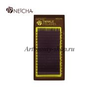 "Ресницы ""NEICHA"" TWINKLE DARK BROWN - темно-коричневые (16 линий) C 0.10 Длина 14 мм"